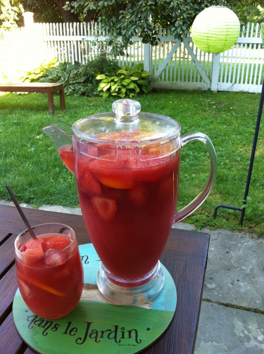 Watermelon Sangria. Summer in a glass.