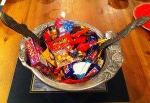 Halloween salad bowl