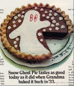 Snow Ghost pie ad