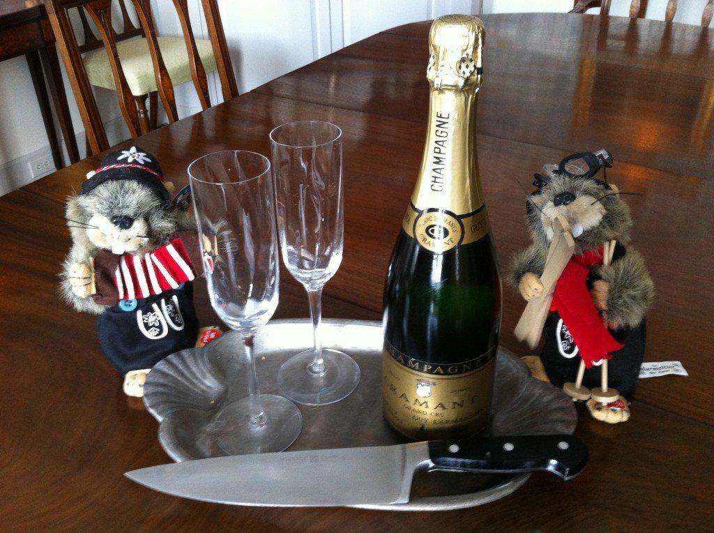 Sabering champagne